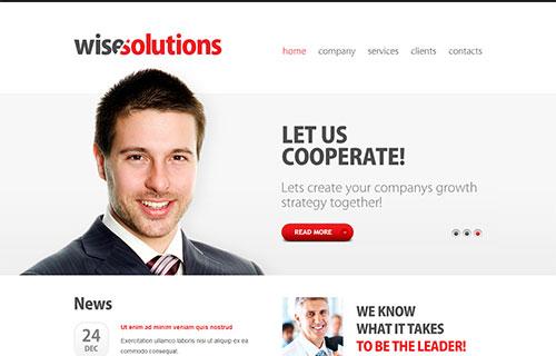自适应简洁版公司网站模板